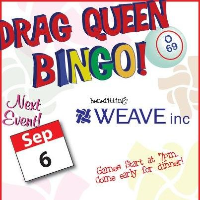 Image of Drag Queen Bingo to Benefit WEAVE on September 6