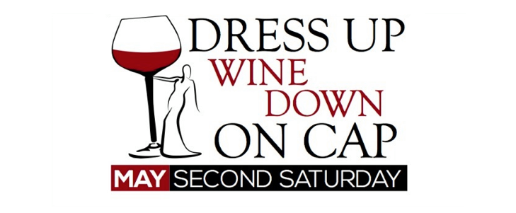 Image of Dress Up Wine Down on Cap